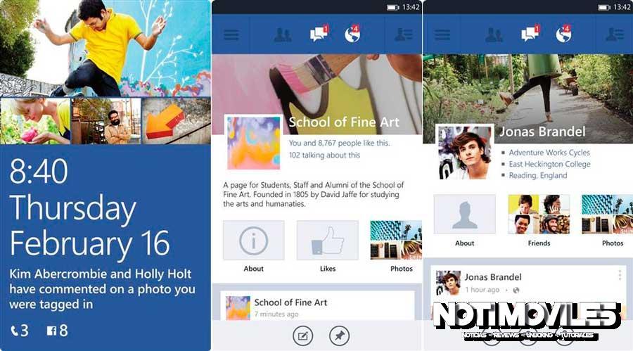 Facebook para Windows Phone 8 se actualiza a 5.0