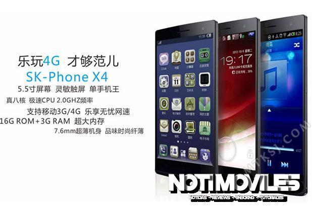 SK-phone X4 Smartphone Mediatek Con 3 GB RAM y LTE 188 $