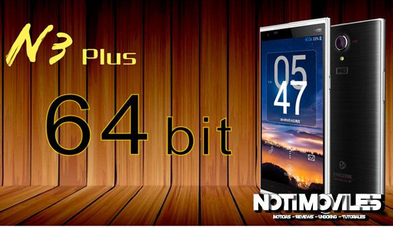 El Kingzone N3 Plus tiene Procesador 64 Bits