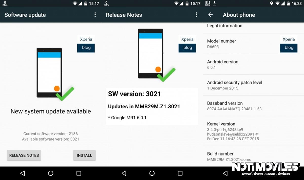 Android Marshmallow Para Xperia Z3 y Z3 Compact